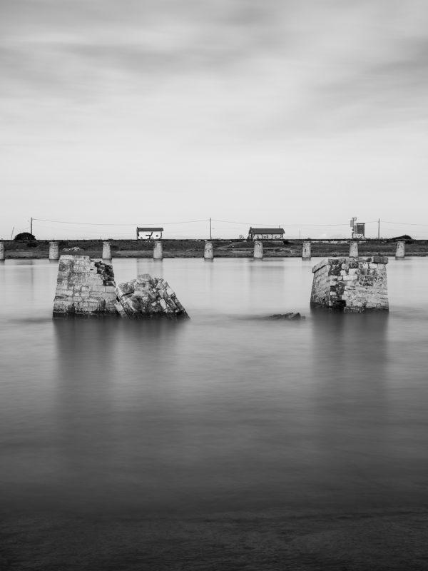 Anglet, embouchure de l'Adour, les anciens piliers
